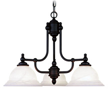 Livex Lighting 4253-02 - 3 Light Polished Brass Chandelier