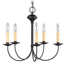 Livex Lighting 4455-04 - 5 Light Black Chandelier