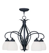 Livex Lighting 4775-04 - 5 Light Black Chandelier