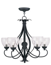 Livex Lighting 4805-04 - 5 Light Black Chandelier