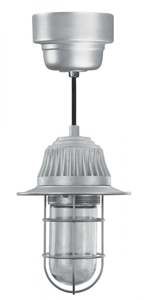 16w Led Vapor Pendant With Clear Gl Wire Guard
