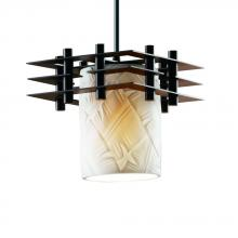 Justice Design Group POR-8167-10-BANL-DBRZ-BKCD - Metropolis 1-Light Small Pendant (3 Flat Bars)