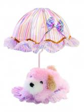 Lite Source Inc. IK-6090PINK - Table Lamp - Pink Dog/Striped Fabric Shade, E27 Type B 40W