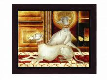 "Lite Source Inc. LP-1508 - PAINTING ""TWIN DOGS"", 20.5""Hx24""W"