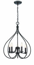 Lite Source Inc. LS-19727 - 5-Lite Chandeliers, Dark Bronze, E12 Type B 60Wx5