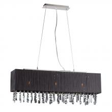 PLC Lighting 73052 BLACK - PLC 3 Light Pendant Vibba Collection 73052 BLACK/PC