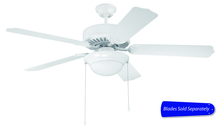 "Craftmade C209W - Pro Builder 209 52"" Ceiling Fan with Light in White (Blades Sold Separately)"