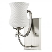 Acclaim Lighting IN41350SN - Evelyn Indoor 1-Light Sconce W/Glass Shade In Satin Nickel