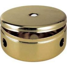 "Satco Products Inc. 90/657 - 2 3/4"" Fixture Body and Cover Vacuum Brass Finish 3 Arm Holes"