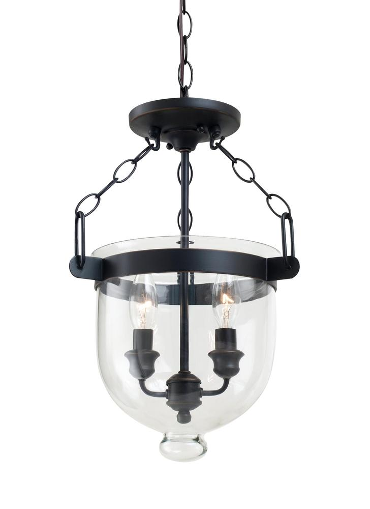 Vinings Lighting Inc in Alpharetta, Georgia, United States, Sea Gull 77046EN-715, Two Light Semi-Flush Convertible Pendant, Westminster
