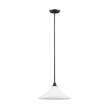 Sea Gull 6513201BLE-715 - Fluorescent Metcalf One Light Down Pendant in Autumn Bronze with Satin Etched Glass