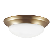 Sea Gull 79434BLE-848 - One Light Fluorescent Flush Fixture in Satin Bronze Finish with Satin Etched Glass