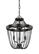 Sea Gull 7710103EN-846 - Three Light Semi-Flush Convertible Pendant