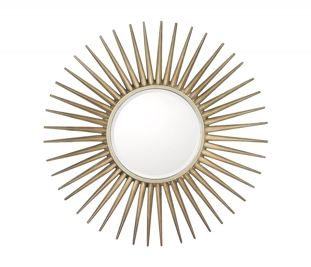 "Vinings Lighting Inc in Alpharetta, Georgia, United States, Capital M343478, Brushed Silver Frame With Beveled Mirror; Inner Mirror 14.5"" Round, Mirrors"