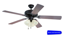 "Ellington Fan E206AG - Pro Builder 206 52"" Ceiling Fan with Light in Aged Bronze Textured (Blades Sold Separately)"