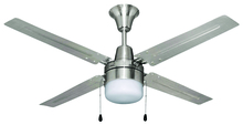 "Ellington Fan UB48BC4C1 - Urbana 48"" Ceiling Fan with Blades and Light in Brushed Chrome"