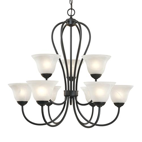 Vinings Lighting Inc in Alpharetta, Georgia, United States, Millennium 79-BK, Chandelier Ceiling Light, Main Street