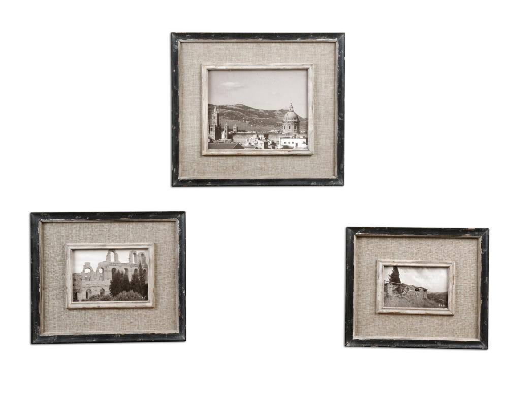 Uttermost Kalidas Cloth Lined Photo Frames, Set/3