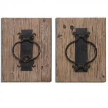 Uttermost 07654 - Uttermost Rustic Door Knockers Wall Art S/2