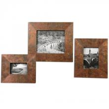 Uttermost 18564 - Uttermost Ambrosia Copper Photo Frames S/3