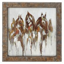 Uttermost 51104 - Uttermost Equestrian In Browns And Golds Abstract Art